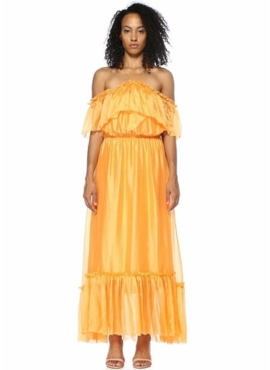 Designers Remix Elbise Oranj